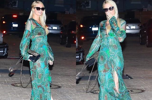 paris hilton spotted in malibu for dinner