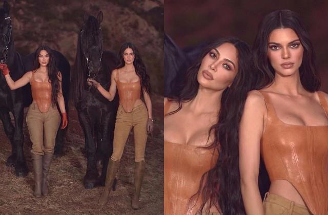 kim kardashian photoshoot with kendall jenner
