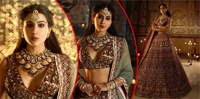 sara ali khan asked for marriage proposals by sharing her lehenga look photos