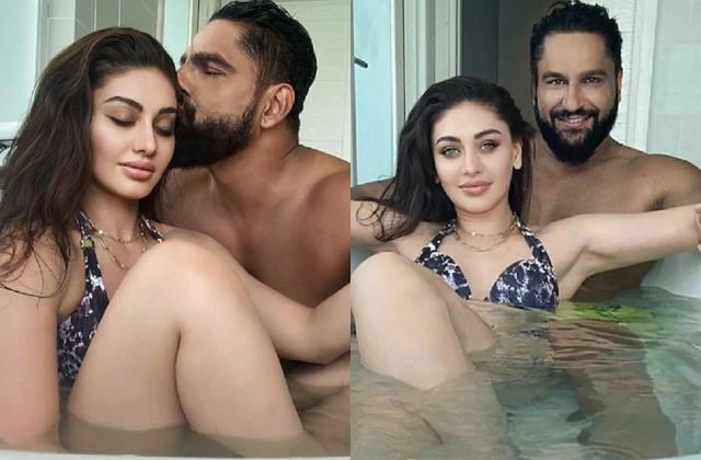 shefali jariwala romantic in bathtub with husband parag tyagi