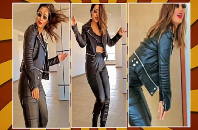 hina khan share her dance video