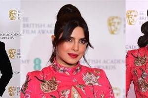 priyanka chopra looks bold as she attend bafta 2021 with hubby nick