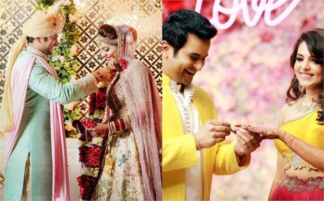 sugandha mishra sanket bhosale weddings pictures