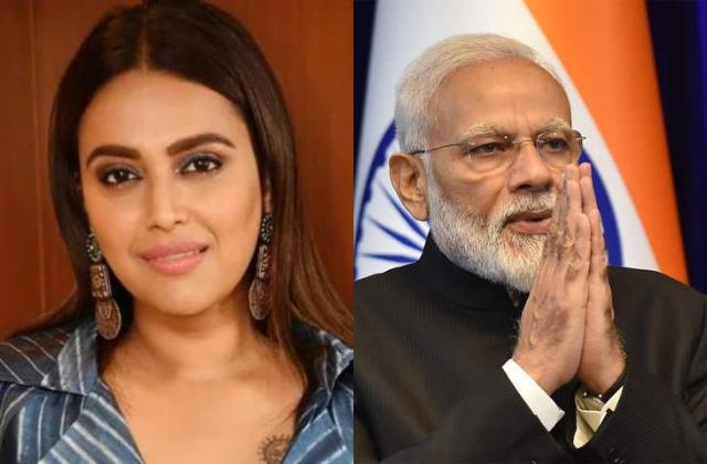 swara bhaskar post story with pm modi image mentioning temple and hospitals bed