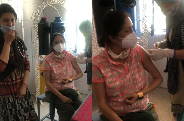 actress neena gupta take second dose of coronavirus vaccine in uttrakhand