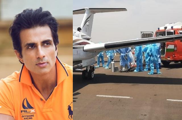 sonu sood gets covid patient airlifted from nagpur to hyderabad for treatment