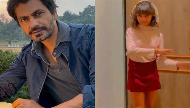 nawazuddin daughter shora dance on his father new song