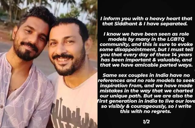 being together 14 years now apurva asrani seprated from his partner siddhant