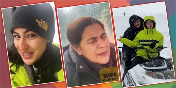 sara ali khan turns reporter as mother amrita singh battles her fear