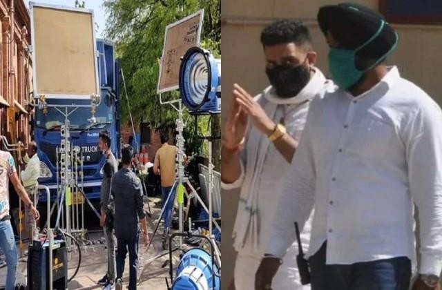 abhishek bachchan s film shooting  dasvi  stopped in agra