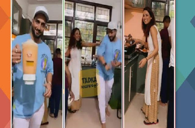 jasmin bhasin help aly goni and his family in iftaar feast preparation