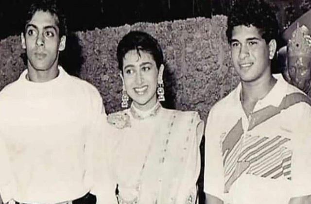 karisma kapoor shares throwback picture with salman khan and sachin tendulkar
