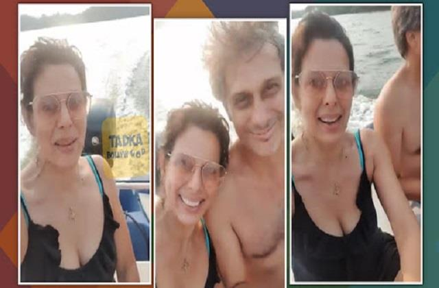 pooja bedi enjoys vacation with fiance maneck contractor in goa