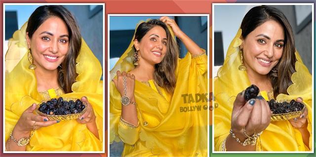 hina khan traditional look on ramzan