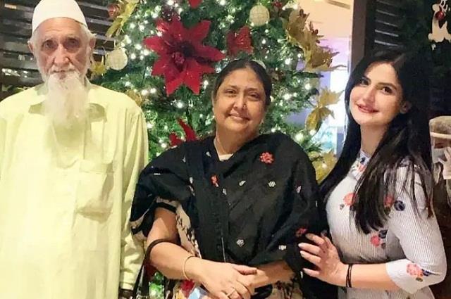 zareen khan grandfather passes away