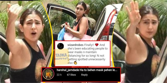 sara ali khan spotted without mask users trolled actress