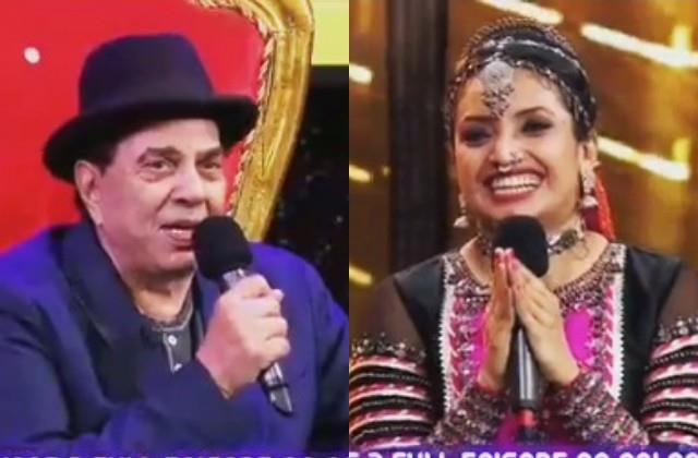 dharmendra gave 51 rupees to the contestant at the set of dance deewane