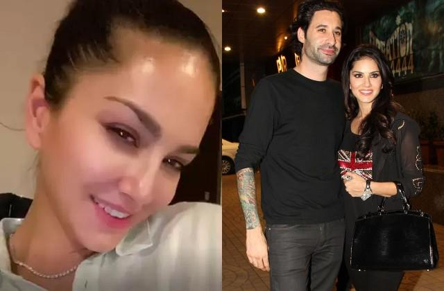 sunny leone husband daniel weber gifts diamond necklace on anniversary