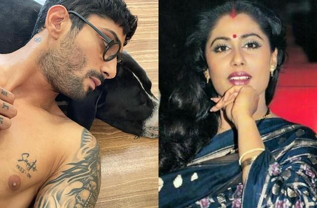 prateik babbar inked mother smita patil name on her chest