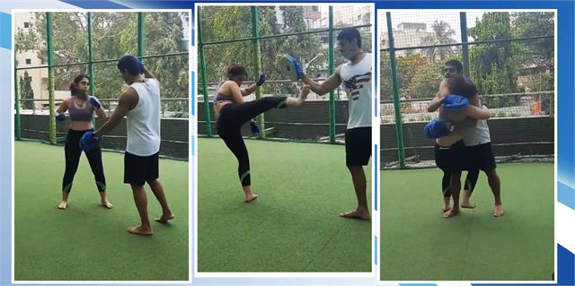 video ira khan kickboxing with boyfriend nupur shikhare