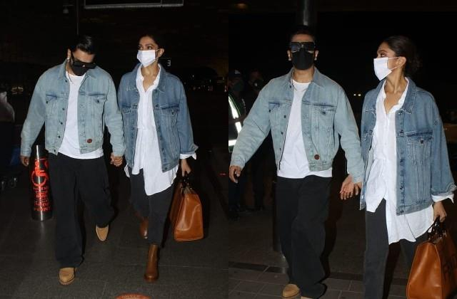 ranveer singh and deepika padukone spotted at airport