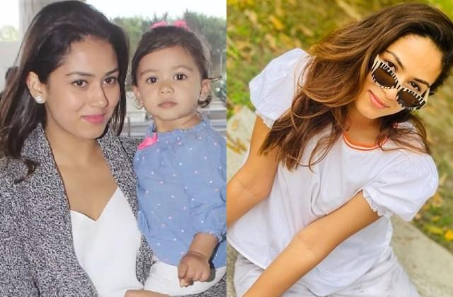 shahid kapoor daughter misha kapoor clicked mother mira rajput photo