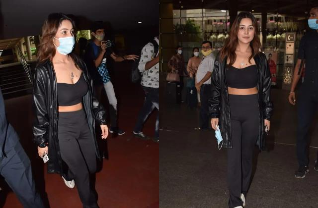 bigg boss 13 fame shehnaaz gill looks stunning as spotted at airport