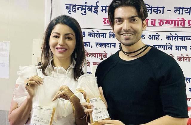 debina bonnerjee gurmeet choudhary donated plasma