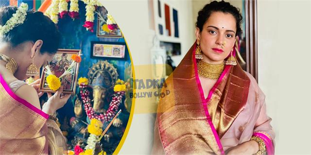 kangana ranaut prays devi durga and wish navratri gudi padwa