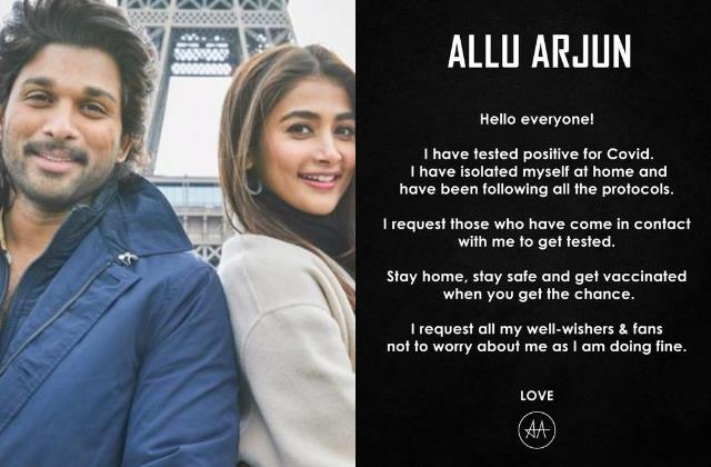 after pooja hegde south superstar allu arjun tested covid19 positive