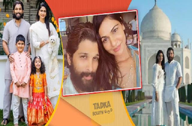 sneha reddy wishes birthday to husband allu arjun photos viral