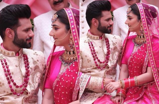 rahul vaidya and disha parmar share their wedding photo