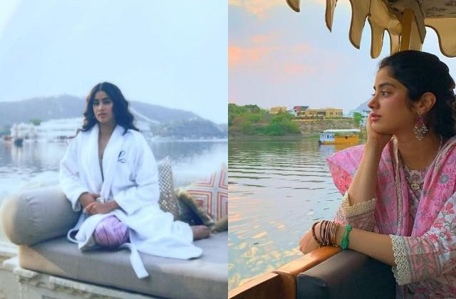 after the maldives janhvi kapoor enjoys vacation in udaipur