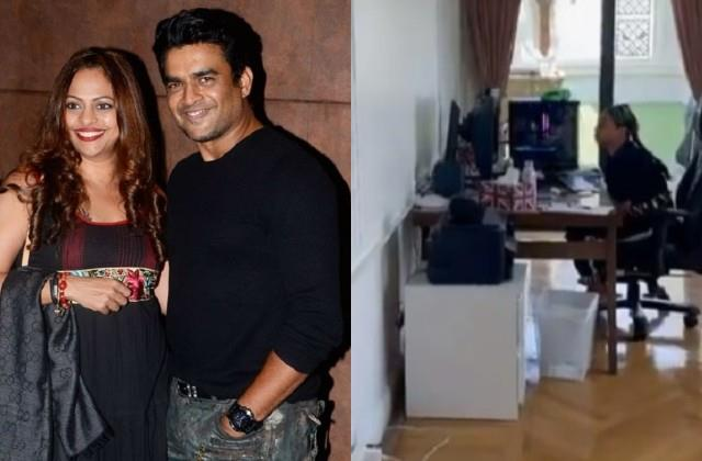 r madhavan wife sarita birje teaching poor kids actor share video