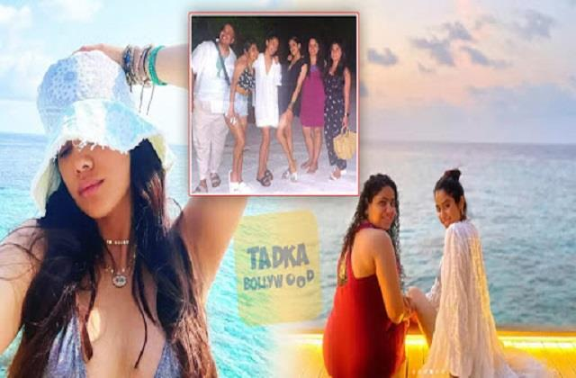 janhvi kapoor enjoys maldives vacation with friends
