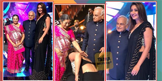 dhvani bhanushali met her idol veteran composer anandji on set of india idol
