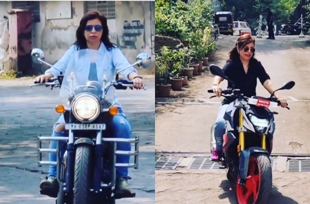 'पैर पहुंच जाएं तो ले ले' पति की इजाजत मिलते ही तारक मेहता की रोशन भाभी ने खरीदी बुलेट फिर मुंबई की सड़कों पर यूं दौड़ाई बाइक