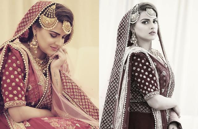 bigg boss 13 fame himanshi khurana bridal look pictures viral