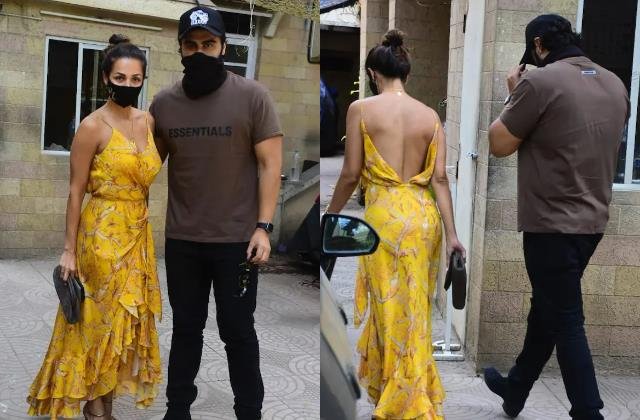 malaika arrives at parents house with boyfriend arjun kapoor for easter lunch