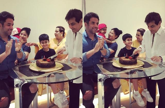 jitendra celebrates his 79th birthday with the family