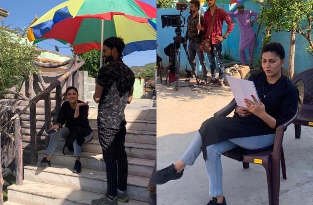sapna chaudhary photos viral from the shooting set