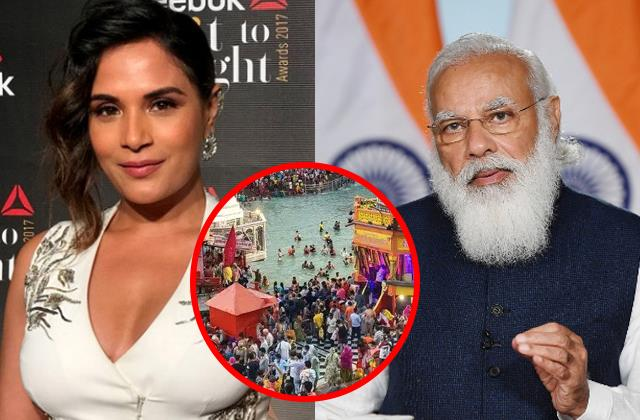 narendra modi says kumbh should over actress richa chadha gave in her reaction