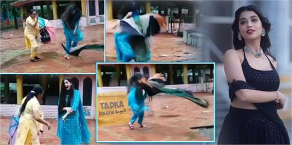 peacock attacked on jalebi actress digangana suryavanshi