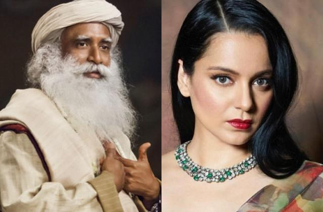 kangana support sadhguru jaggi vasudev as he trolled for his statement