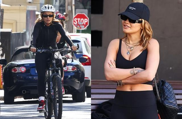 rita ora enjoys bike ride with friends in sydney
