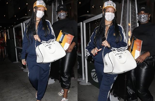 rihanna spotted at beverly hills