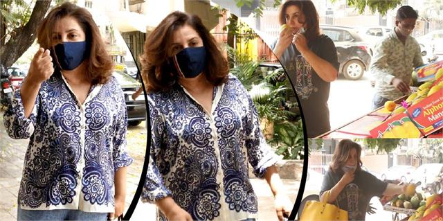 farah khan angry on photographers asks who took her mango smelling video