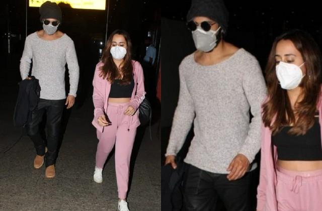 varun dhawan spotted at the airport with wife natasha dalal