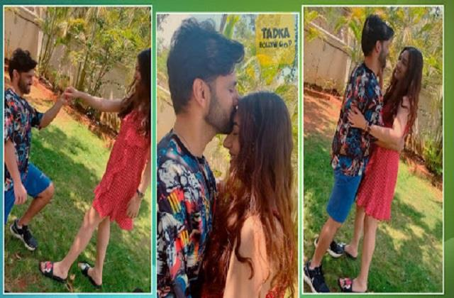 rahul vaidya shares romantic dance video with disha parmar