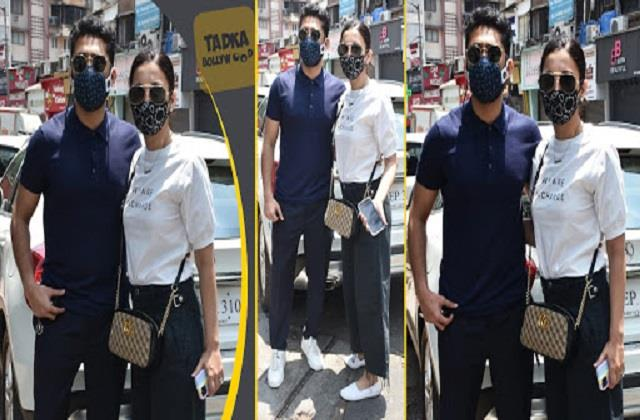 gauhar khan spotted in lokhandwala with husband zaid darbar